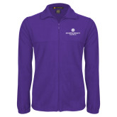 Fleece Full Zip Purple Jacket-Primary Logo Centered