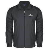 Full Zip Charcoal Wind Jacket-Primary Logo Centered