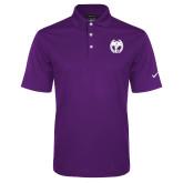Nike Golf Dri Fit Purple Micro Pique Polo-NICFC