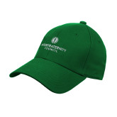 Kelly Green Heavyweight Twill Pro Style Hat-Primary Logo Centered