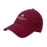 Cardinal Twill Unstructured Low Profile Hat-Primary Logo Centered