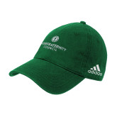 Adidas Kelly Green Slouch Unstructured Low Profile Hat-Primary Logo Centered