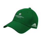 Adidas Kelly Green Structured Adjustable Hat-Primary Logo Centered