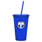 Madison Double Wall Blue Tumbler w/Straw 16oz-NICFC