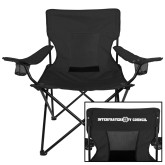 Deluxe Black Captains Chair-Interfraternity Council