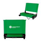 Stadium Chair Kelly Green-Primary Logo Left