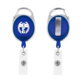 Blue Oval Retractable Badge Holder w/Clip-NICFC