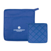 Quilted Canvas Royal Pot Holder-Primary Logo Centered