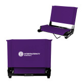 Stadium Chair Purple-Primary Logo Left