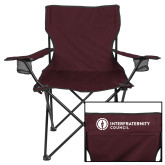 Deluxe Maroon Captains Chair-Primary Logo Left