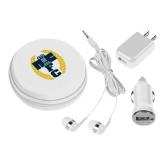 3 in 1 White Audio Travel Kit-NICFC