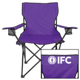 Deluxe Purple Captains Chair-Primary Logo Centered