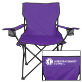 Deluxe Purple Captains Chair-Primary Logo Left