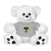 Plush Big Paw 8 1/2 inch White Bear w/Grey Shirt-NICFC