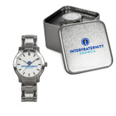 Ladies Stainless Steel Fashion Watch-Primary Logo Centered