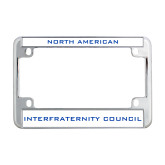 Metal Motorcycle License Plate Frame in Chrome-NIC