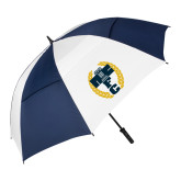 62 Inch Navy/White Vented Umbrella-NICFC