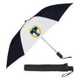 42 Inch Slim Stick Black/White Vented Umbrella-NICFC