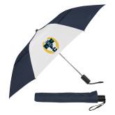 42 Inch Slim Stick Navy/White Vented Umbrella-NICFC