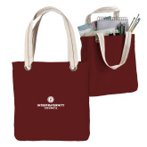 Allie Cardinal Canvas Tote-Primary Logo Centered