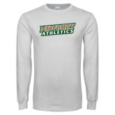 White Long Sleeve T Shirt-Newbury Athletics