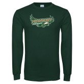 Dark Green Long Sleeve T Shirt-Primary Mark