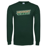 Dark Green Long Sleeve T Shirt-Newbury College