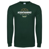 Dark Green Long Sleeve T Shirt-Soccer Design