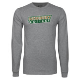 Grey Long Sleeve T Shirt-Newbury College