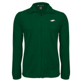 Fleece Full Zip Dark Green Jacket-Nighthawk
