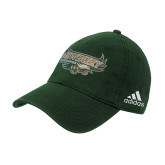 Adidas Dark Green Slouch Unstructured Low Profile Hat-Primary Mark
