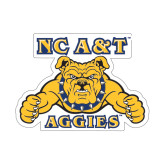 Medium Decal-NC A&T Aggies, 8 in W