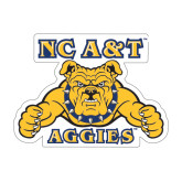Large Decal-NC A&T Aggies, 12 in W