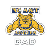 Dad Decal-NC A&T Aggies, 6 in W