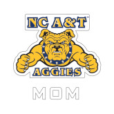 Mom Decal-NC A&T Aggies, 6 in W
