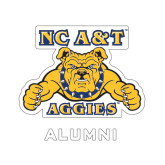 Alumni Decal-NC A&T Aggies, 6 in W