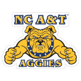 Extra Large Decal-NC A&T Aggies, 18 in W
