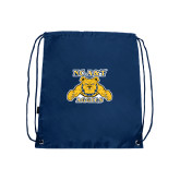 Navy Drawstring Backpack-NC A&T Aggies