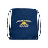Nylon Navy Drawstring Backpack-Aggie Pride