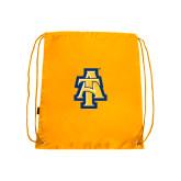 Nylon Gold Drawstring Backpack-AT