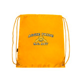 Gold Drawstring Backpack-Aggie Pride
