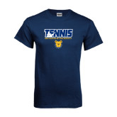 Navy T Shirt-Tennis Player