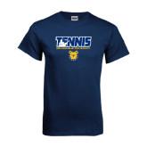Navy T Shirt-Tennis Player
