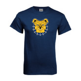 Navy T Shirt-Bulldog Head