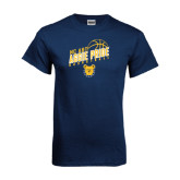 Navy T Shirt-Basketball Pride