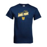 Navy T Shirt-Basketball Pride