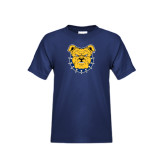 Youth Navy T Shirt-Bulldog Head
