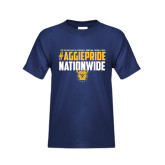 Youth Navy T Shirt-#AggiePride Nationwide