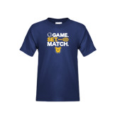Youth Navy T Shirt-Tennis Game Set Match