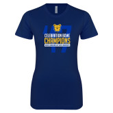 Next Level Ladies SoftStyle Junior Fitted Navy Tee-2017 Celebration Bowl